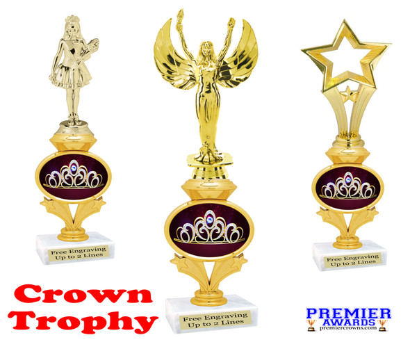 Crown theme trophy.  Great award for your pageants, contests, themed events, parties and more.  design 2