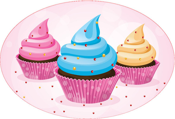 Cupcake theme trophy.  Great award for your pageants, contests, themed events, parties and more.  design 3