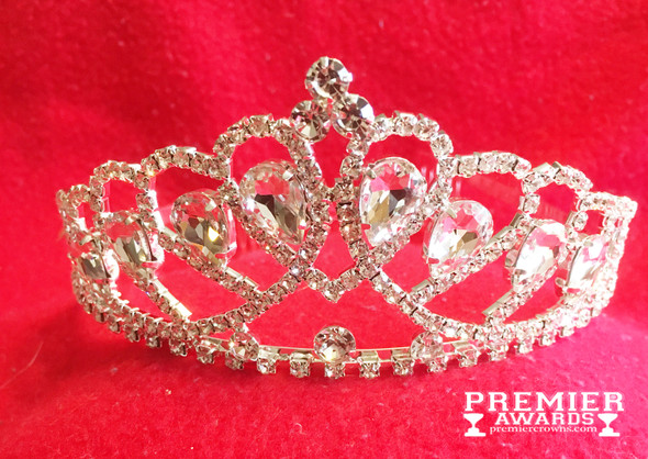 """2"""" tall crown with side combs.  Large accent stones add to the beauty of this Tiara."""
