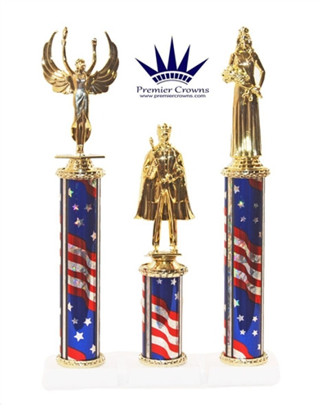 1 column - Deluxe Flag column.  Multiple sizes and figure choice available.