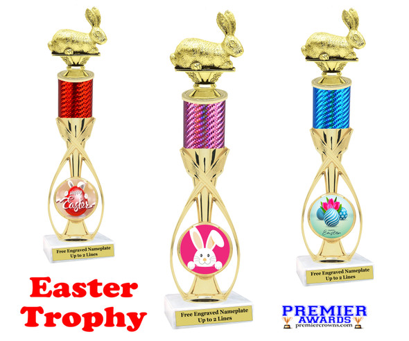 Easter theme trophy.  Festive award for your Easter pageants, contests, competitions and more.  6013