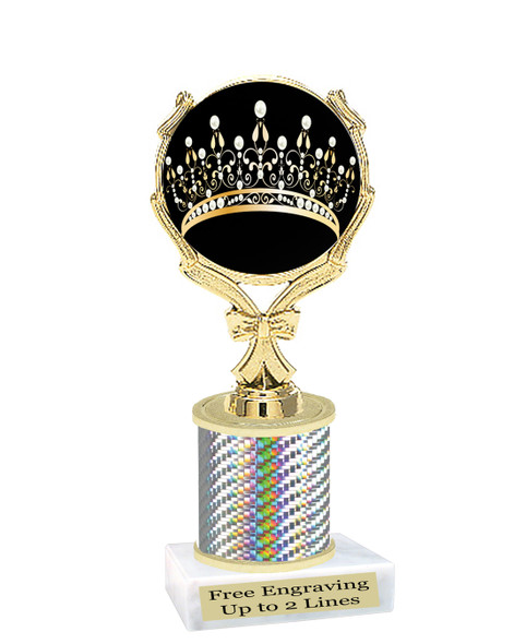 """Crown trophy.  5.5"""" tall Cute trophy that is great for your pageants, events, contests, schools and more."""