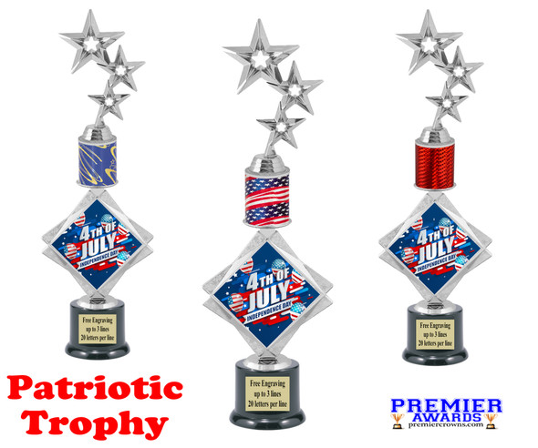 """Patriotic theme trophy. 16"""" tall Great trophy for all of your patriotic themed events!  003"""