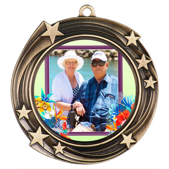 Custom medal.  Upload your logo, art work or text for a unique medal great for any event!  930G