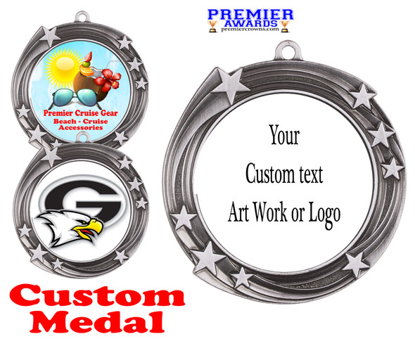 Custom medal.  Upload your logo, art work or text for a unique medal great for any event!  930S