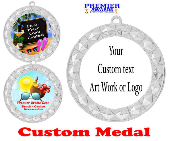 Custom medal.  Upload your logo, art work or text for a unique medal great for any event!  935S