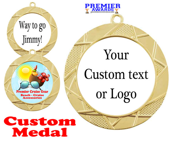 Custom medal.  Upload your logo, art work or text for a unique medal great for any event!  940g