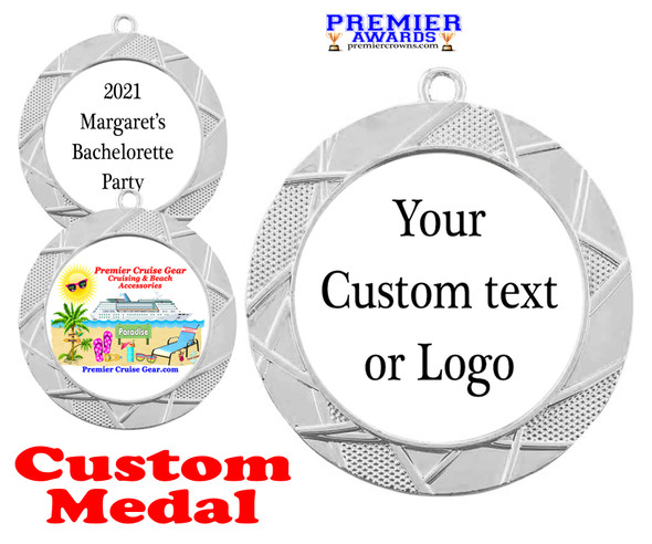 Custom medal.  Upload your logo, art work or text for a unique medal great for any event!  940s