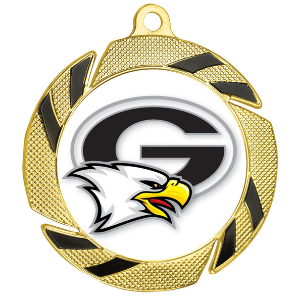 Custom medal.  Upload your logo, art work or text for a unique medal great for any event!  951g