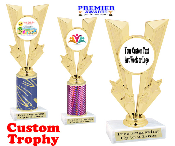 Custom Trophy.  Add your logo, custom art work or text for a unique trophy which is great for all events. 92746