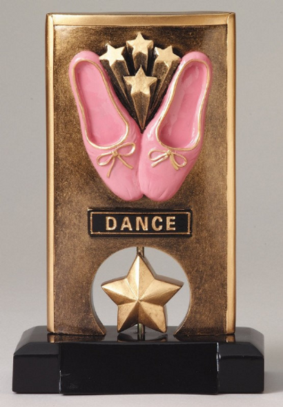 "Dance Trophy.  6.5"" tall Resin trophy.  Clearance-Discontinued with limited quantities"
