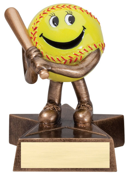 """Adorable Participation Trophy!  4"""" Tall with free engraving.  DISCONTINUED"""
