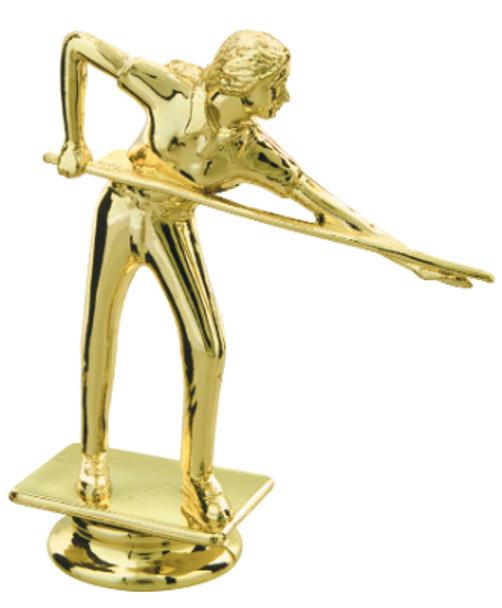 """4.5"""" tall Female Billiard Figure"""