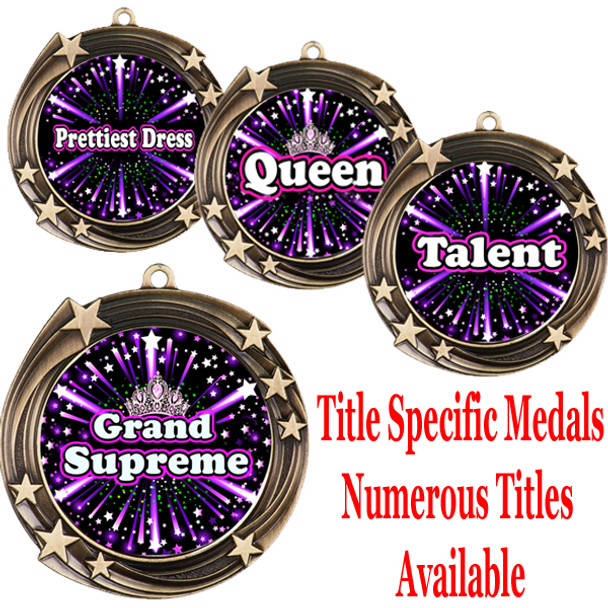 Medal with Title Specific insert.  Numerous titles available.  (m-hr930)