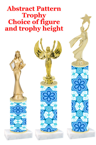 Abstract  pattern  trophy with choice of trophy height and figure (002)