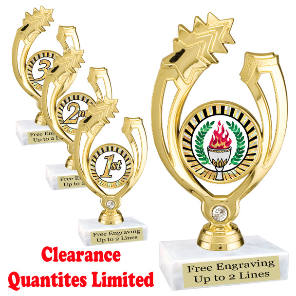 """Clearance - Discontinued   6"""" trophy.  Quantities are limited.  (ph88"""