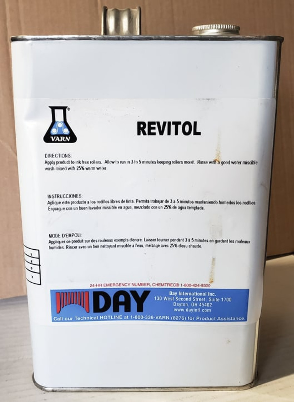 Varn Revitol Concentrated Liquid Roller And Blanket Deglazer