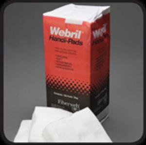 "Webril Wipes 4""x4"" Handi-Pads from Fiberweb - Case of 20"