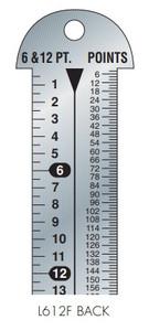 Gaebel Rulers 612 F Series Line Gauges
