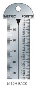 Gaebel Rulers 612 H Series Line Gauges