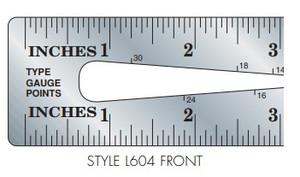Gaebel Stainless Steel Printers' Ruler Series 604