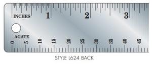 Gaebel Stainless Steel Printers' Ruler Series 624