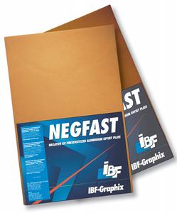 "IBF NEGFAST Analog Negative Offset Plate  12-3/4"" x 19-3/8""  Straight Cut"