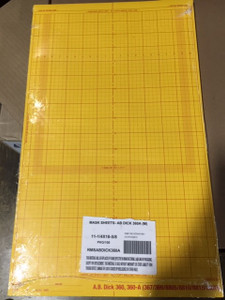 """Lithco Goldenrod Masking Sheets  • Hamada 700-770-775-E47S  •  18-1/2"""" x 15-7/8"""" (100 sheets)"""