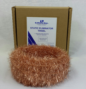 Copper Static Tinsel - 72' per box - Clearance