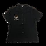 Cadets Ladies Black Button Up Shirt