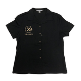 Cadets Ladies Black Button Up Shirt