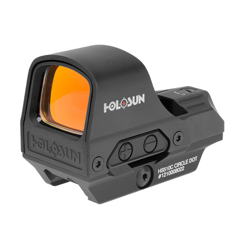 Holosun HS510C Red Dot Sight | 2MOA Dot + Ring | Solar Backup