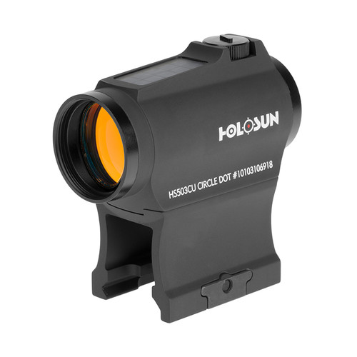 Holosun HS503CU Red Dot Sight | 2 Moa Red Dot & Ring | Solar Power Backup