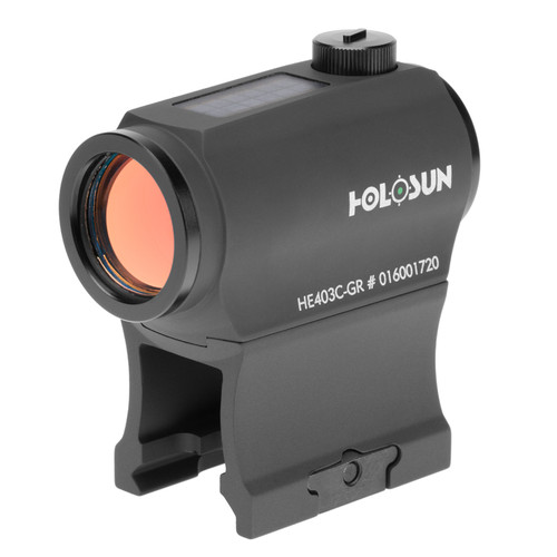 Holosun HE403C-GR Green Dot Sight | 2MOA Dot  | Solar Backup