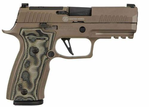 "Sig Sauer P320 AGX Scorpion 9mm Custom Shop - 3.9"" | 320AXGCA-9-CW-SCPN-R2"