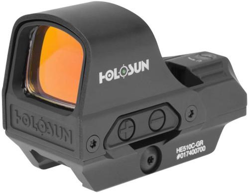 Holosun 510C-GR - Reflex Sight - Green Dot / 2MOA - 32MOA