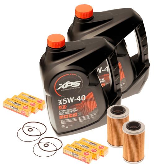 Sea Doo Oil Change Kit W/ Filter O Rings & Spark Plugs 2 Pack 4-Tec GTI GTX GTS