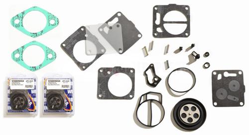 Dual Twin Carburetor Rebuild Kit With Base Gaskets Sea Doo HX GTX GTI XP SPX