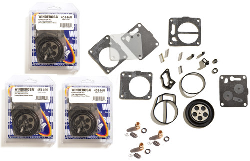 Triple Carb Carburetor Rebuild Kit With Needle Seats Yamaha GP1200 1997-1999