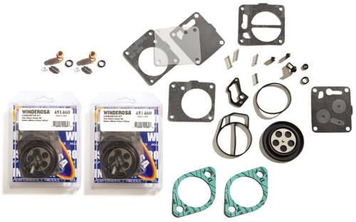 Sea Doo SPX 1993-1995 Twin Carburetor Rebuild Kit With Base Gasket & Needle Seat