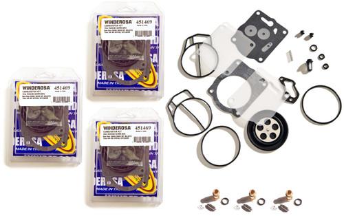 Yamaha Mikuni Triple Carburetor Rebuild Kit With Needle & Seat XL XLT GPR 1200
