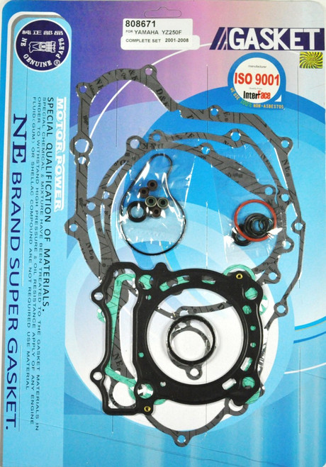 Full Complete Gasket Kit Top And Bottom End YZ250F 2001-2013