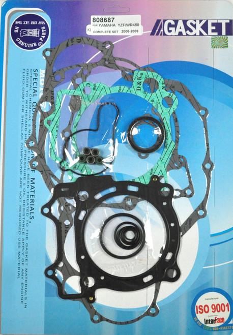 Complete Full Gasket Kit Top & Bottom End Set Yamaha YZ 450F YZF WR 2006-2009