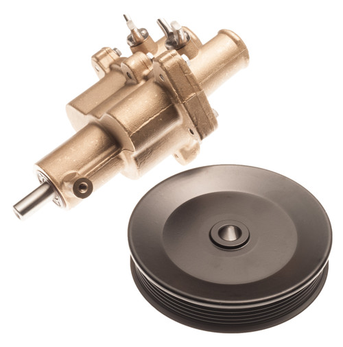 Raw Water Sea Pump for Mercruiser w/ Pulley 46-862914T10 46-8M0139995 5.0 - 6.2L