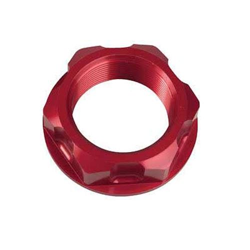 Billet Aluminum Red Steering Stem Nut Honda CR125 CR250 CRF250 CRF450 R X