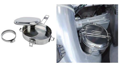 Snowmobile ATV UTV Trail Chef Food Warmer Muff Pot Exhaust Cooker Hot Pot