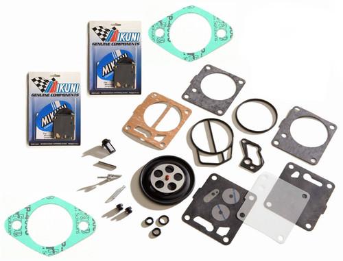 Sea Doo HX GTI GT Genuine Mikuni Twin Carb Carburetor Rebuild Kit & Base Gaskets