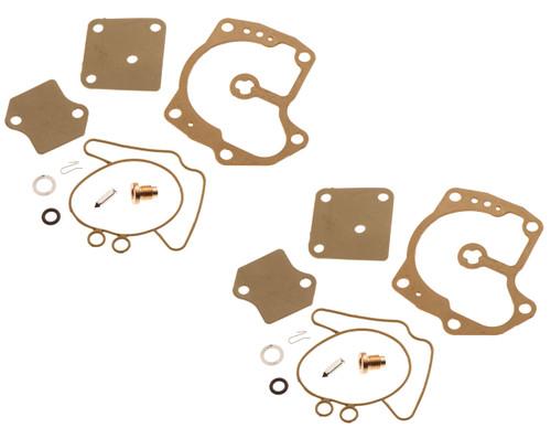 Johnson Evinrude Twin Carburetor Carb Rebuild Kit Looper 120 125 140 250 275 300
