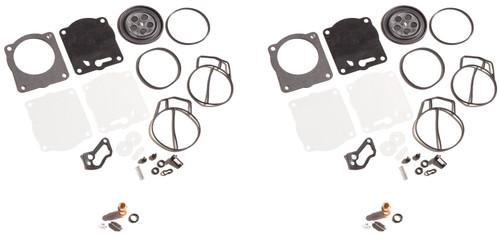 Dual Twin Carburetor Carb Rebuild Kit & Needle Seats Yamaha GP XL XLT 800