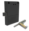 Hidden / Invisible RFID cabinet lock with plunger to assist opening, 125 Khz